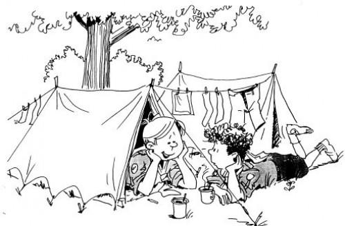 Zeltlager der  Bogenjugend