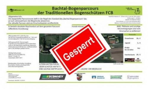 Bachtal - Bogenparcours GESPERRT