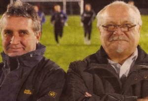 Seite an Seite: Franz Seeger (li.) &  Rudolf Lanzinger  (re.) haben den Fußball beim F.C. Ballhausen 1955 e.V. wieder etabliert.